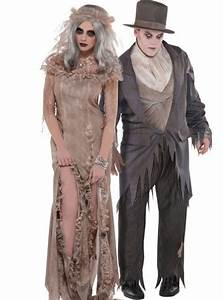 Antique Zombie Bride and Groom Couples Costumes - Horror ...