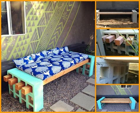 how to make a cinder block bench modern diy patio furniture ideas