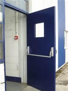 Porte de service acier bloc porte acier de service cave for Porte de garage enroulable jumelé avec bloc porte métallique