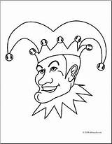 Jester Coloring Clip Abcteach Clipart sketch template