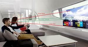 Meuble Tv Accroché Au Mur : trouvez l 39 emplacement id al pour son t l viseur conseils d 39 experts fnac ~ Melissatoandfro.com Idées de Décoration