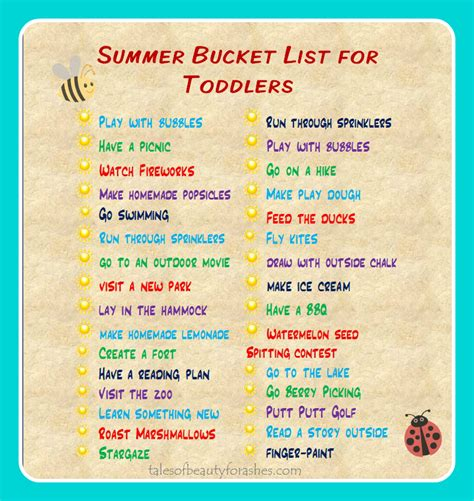 summer activities for toddlers and preschoolers summer list for toddlers tales of for ashes 972