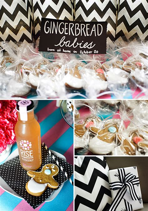 black  white gender reveal party baby shower ideas
