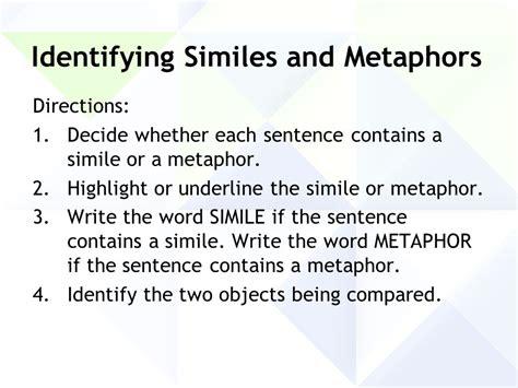 Metaphors & Similes Comparisons  Ppt Download