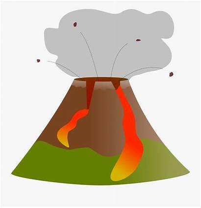 Volcano Clipart Erupting Clip Clipground Transparent 2021