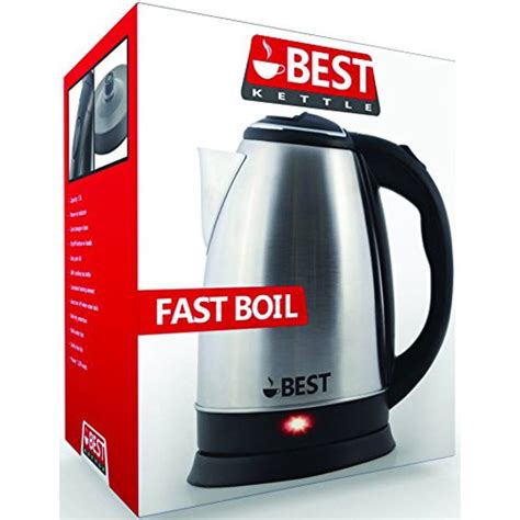 kettle electric boil cordless stainless steel tea brushed fast rapid technology finish liter nickel