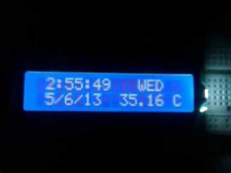 arduino digital clock lcd display timedaydate temperature