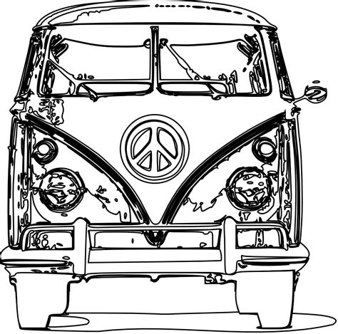 volkswagen old van drawing vw bus clipart cliparts co
