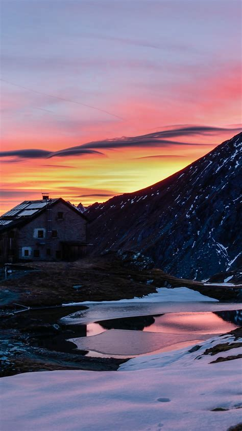 Wallpaper mountains, snow, sunrise, 5k, Nature #17047