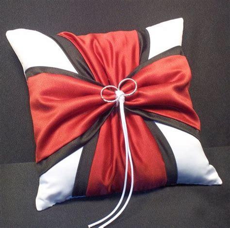 black white or ivory wedding ring bearer pillow