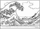 Wave Coloring Hokusai Lesson Plan Waves Tsunami Drawing Japanese Sketch Primary Colouring Elementary Coloriage Teaching Dessin Teacherspayteachers Worksheets Vague Famous sketch template