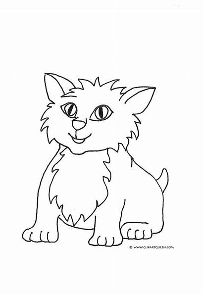 Coloring Cat Pages Drawings Draw Clip Cats