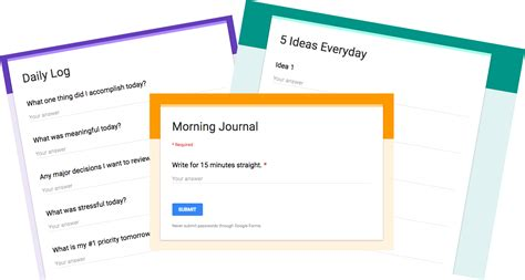 how i use google forms for self improvement and goal