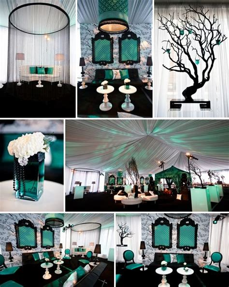 frames for backdrop behind head table teal and silver