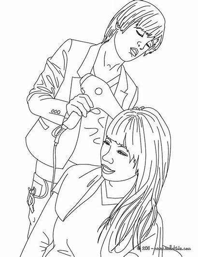 Coloring Hair Pages Hairdresser Salon Hairstyle Printable