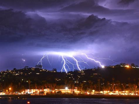 major storm brings spectacular lightning show  southern