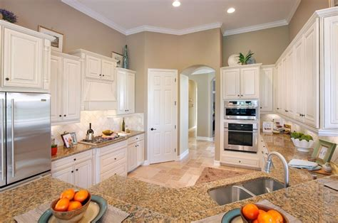 beige kitchen walls with white cabinets quicua
