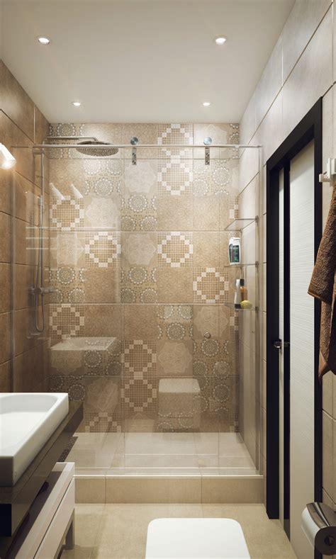 cool tile showers minimalist 1 bedroom apartment designed for a young man