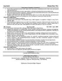 resume for hospitality sales hospitality resume