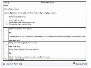 Power Steering Pump And High Pressure Line