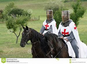 Crusading Knights On Horseback Stock Photo - Image: 18123464