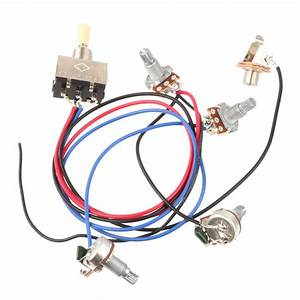 Wiring Harness 3 Way Toggle Switch 2v2t 500k Pots  U0026 Jack