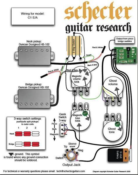 schecter c 1 e a wiring diagram harmony central