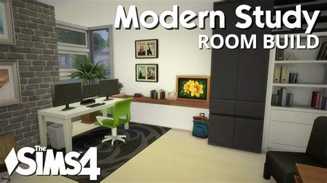 the sims 4 room build modern study