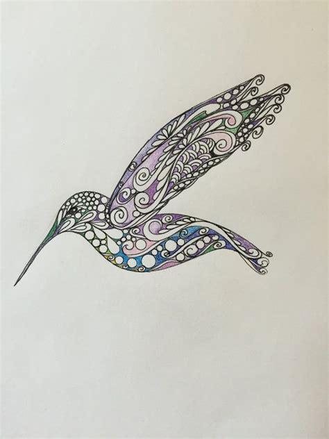 zentangle hummingbird original hummingbirdcolored
