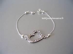 bracelet mariee fantaisie coeur strass With bijoux mariage strass