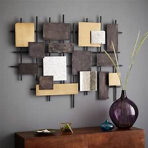 Metal mirror wall art west elm
