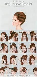 50er Jahre Frisur Lange Haare : 10 einfache hochsteckfrisuren mit anleitungen f r den herbst rockabilly hair frisur ~ Frokenaadalensverden.com Haus und Dekorationen