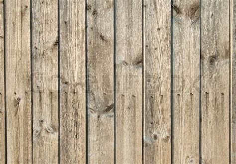 wood panel wallpaper background from wooden boards with nails and knot stock