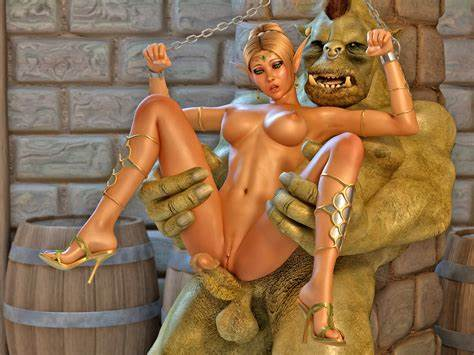 Tasty Monster Boobed Mother Angel Images Chained Pigtails Impaled On Big Orc'S Large Dicks At