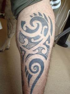 15 Unique Tribal Calf Tattoos | Only Tribal