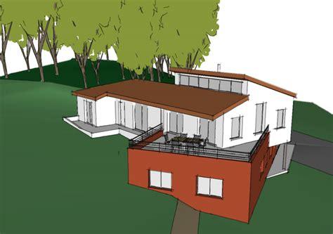 vue aerienne de ma maison construction d une maison passive 233 cologique en bois 224 bouc bel air m 224 j architectes