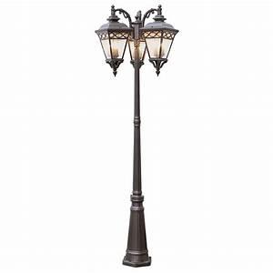 Trans globe lighting head outdoor burnished bronze pole light  solar