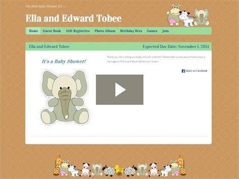 Baby Shower Websites - baby shower by web baby shower