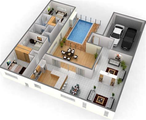 denah  apartemen minimalis  lantai  kamar rumah