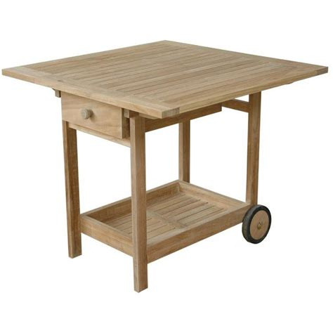 teak danica teak patio serving cart ultimate patio