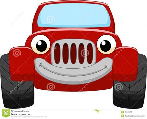 Cartoon Red Car Vector Illustration