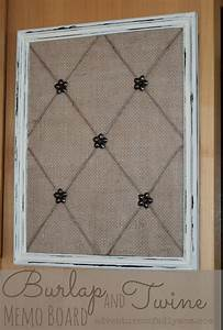How to Make a Burlap and Twine Memo Board - Adventures of