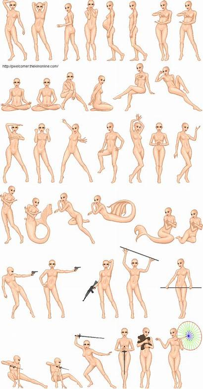 Pose Female Base Bases Natural Pixel Doll