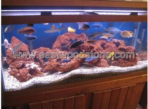 red black lava rock for aquarium tank terrarium fish