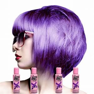 Crazy Color 4 Pack Hot Purple Semi Permanent Hair Dye 100ml