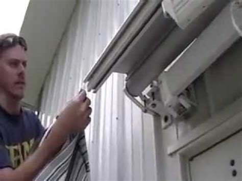 replace  install retractable patio awning fabric youtube