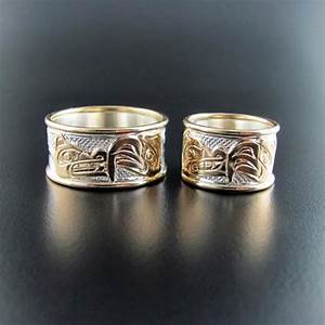 Native american rings from haida kwakiutl coast salish for Cherokee indian wedding rings