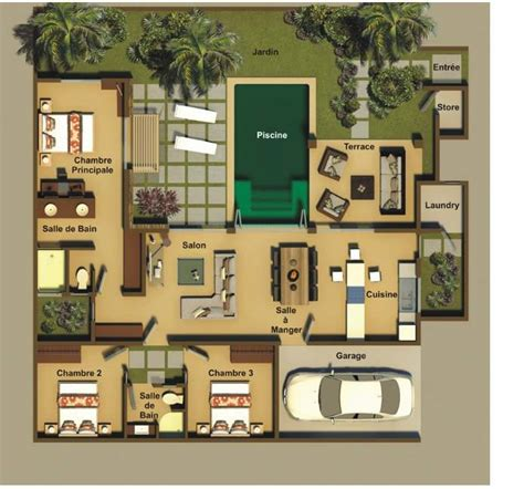 chambre villa villas athéna 1 à 4 chambres ile maurice