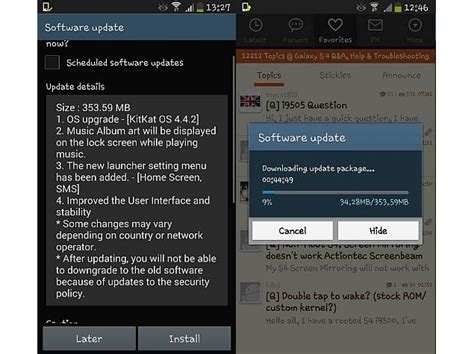 android 4 4 2 update samsung galaxy s4 android 4 4 2 kitkat update reportedly