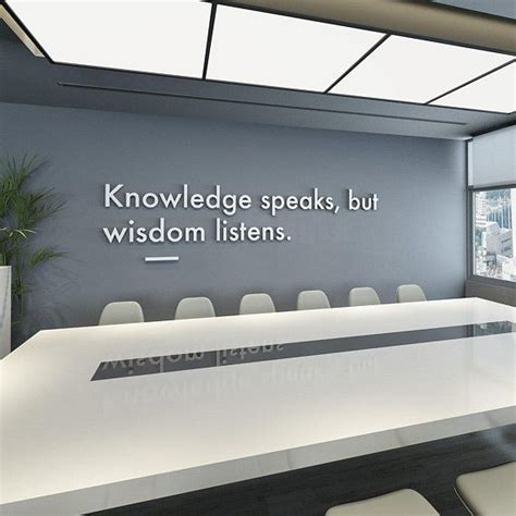 wisdom listens  wall art office decor office wall art